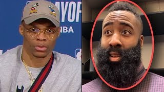 """James Harden Says """"Russ Is A BALLHOG!"""" & Russell Westbrook Is SHOCKED! """"I Get NO SHOTS!"""""""