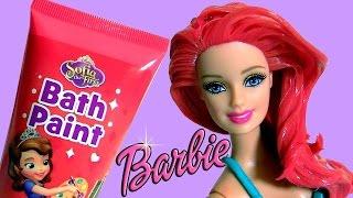Boneca Barbie com Cabelos Vermelhos da Princesa Ariel A Pequena Sereia Completo em Portugues Brasil