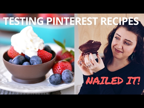 Video TESTING PINTEREST RECIPES (CHOCOLATE BOWL + MORE)