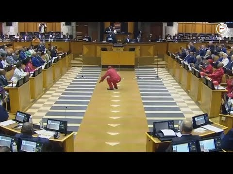 Julius Malema leads with the vosho as EFF MPs are sworn in