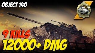 12000+ Damage In Obj. 140   World Of Tanks