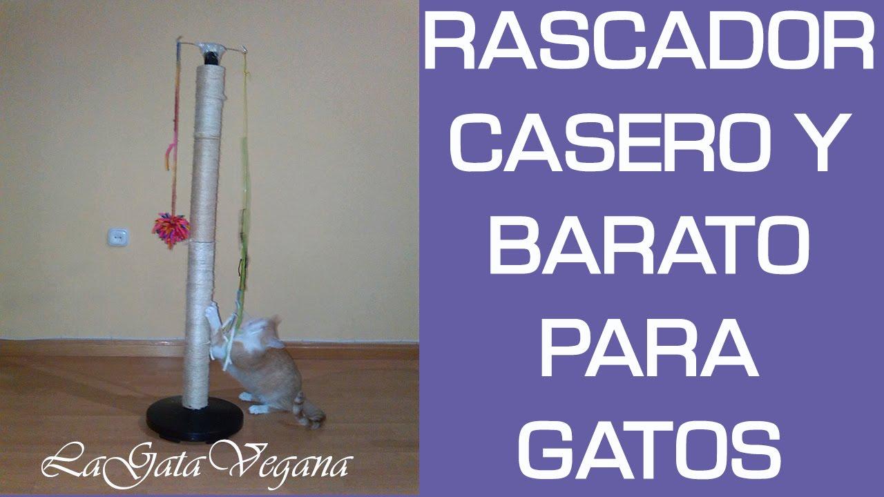 RASCADOR CASERO PARA GATOS / CONSTRUYE UN RASCADOR REUTILIZANDO OBJETOS DE CASA