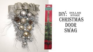 Holiday Christmas DIY  / Door Swag /Christmas Tree