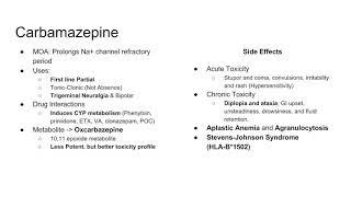 USMLE Pharmacology- Anti-Epileptic Drugs