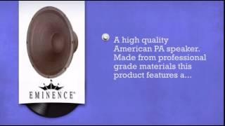 Eminence Black High Quality 400W Delta 15 Speaker 8ohm - DJkit.com