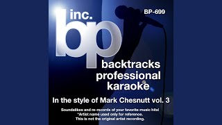 I'm In Love With A Married Woman (Karaoke track With Demo Vocal) (In the style of Mark Chesnutt)