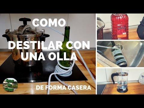Como destilar vino con una olla express en la cocina (Parte 1)