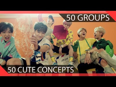 50 KPOP Groups Do 50 Cute Concepts In Under 5 Minutes