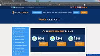 Новый проект CoinTower инвестируй биткоины под 10-15% в день!!!