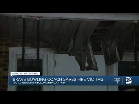 Brave bowling coach saves fire victims
