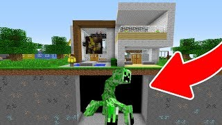 EVİMİN ALTINDA DEV MUTANT CREEPER BULDUM! 😱 - Minecraft