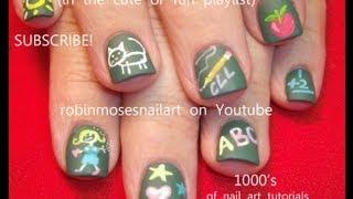 Easy Back To School Nails - DIY Matte Chalkboard Nail Art