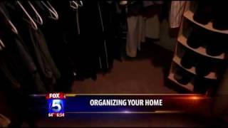 Professional Organizer Kathi Burns on Fox 5 News Closet Organizing (Part 1 of 3)
