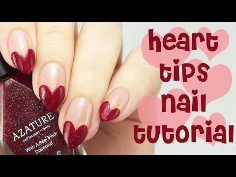 Huzzaz Heart Nail Tips Tutorial Valentine S Day Nail Art