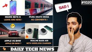 Redmi Note 9,PUBG Death India,WhatsApp Support Ends,Apple vs BMW,OPPO Buds,Mi Mix 4 Launch #1020
