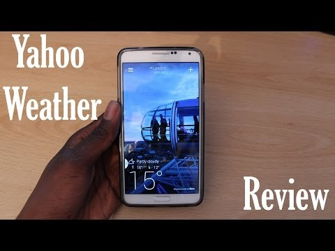 Android App review #1 – Yahoo Weather