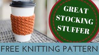 FREE Knitting Pattern For Beginner Knitters | Easy Knitting Project | Great Stocking Stuffer