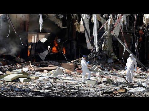 U.S.-Backed Saudi Forces Bomb Yemeni Funeral, Killing 140, Injuring 500 in Possible War Crime