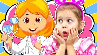 МАЛЫШ и ОЧКИ! Амелька не хочет ходить в очках и прячет их! Окулист выписал Очки! Видео для детей!