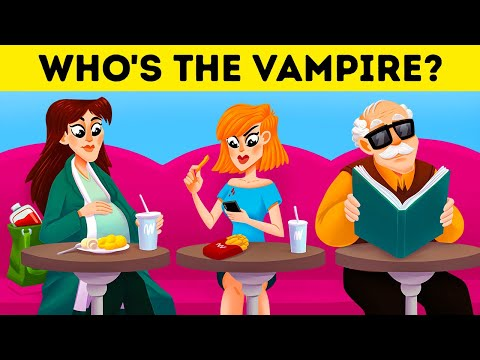 🔉 10 MYSTERY RIDDLES THAT WON'T FOOL VAMPIRE EXPERTS 🦇