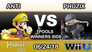 Hyrule Saga - IMT.RZR | ANTi (Mario) Vs. Phuzix (Sheik) Pools - Smash 4