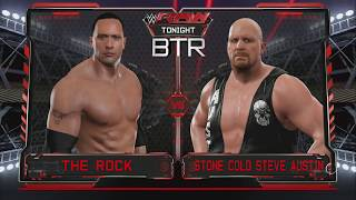 WWE 2K17: The Rock vs Stone Cold Steve Austin Backstage Brawl Gameplay