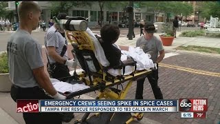 Tampa Firefighters struggle to keep up with Spice calls