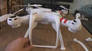 BAYANGTOYS X16 GPS + 2 х осевой подвес Обзор , установка + первый полёт