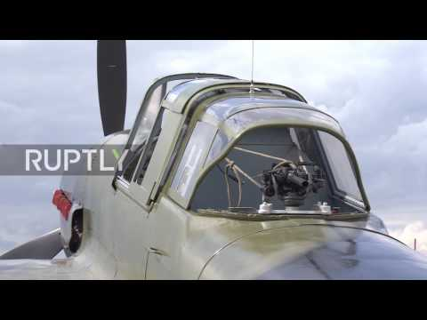 Russia: Restored WW2-era IL-2 fighter flies after 72 years at the bottom of a lake