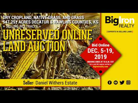 Land Auction 547.25+/- Acres Decatur & Rawlins County, Kansas selling in 3 Tracts