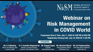Part 6 Webinar on Risk Management in COVID World