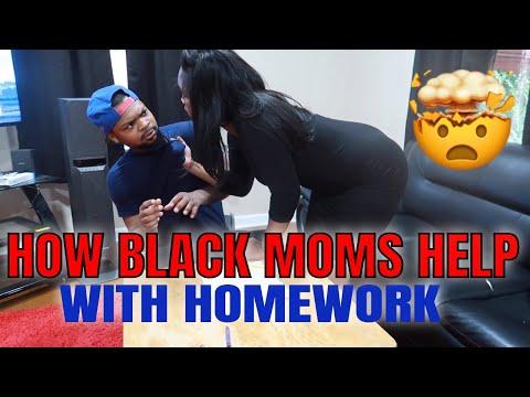 HOW BLACK MOMS HELP THEIR KID WITH HOMEWORK (SKIT)