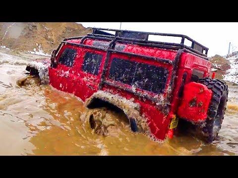 RC Cars Ice Water Bashing, Crawl, Mud – Traxxas TRX4, Axial SCX10, HSP — RC Extreme Pictures