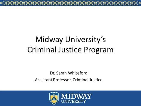 Midway University's Criminal Justice Program