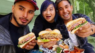 First Time Trying Vegan Burgers (Impossible vs Beyond) Review Mukbang