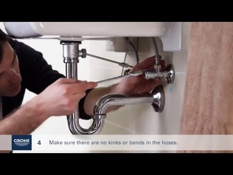 Install a GROHE single-lever basin mixer