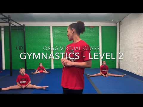 Gymnastics Level 2 (Intermediate) // Virtual Gymnastics Class // Online Gym Class