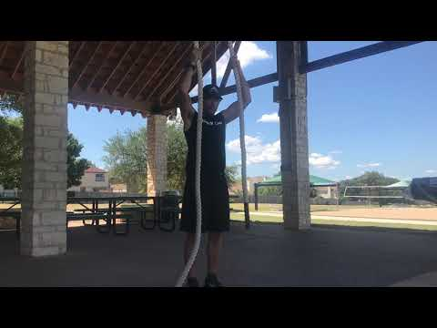 Rope or towel assisted pull-ups
