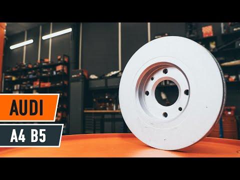 Wie AUDI A4 B5 Bremsscheiben vorne und Bremsbeläge vorne wechseln TUTORIAL | AUTODOC