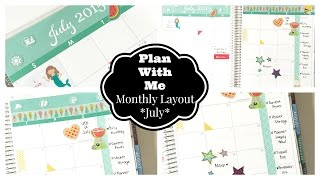 Plan With Me! Monthly Planner Session: July 2015