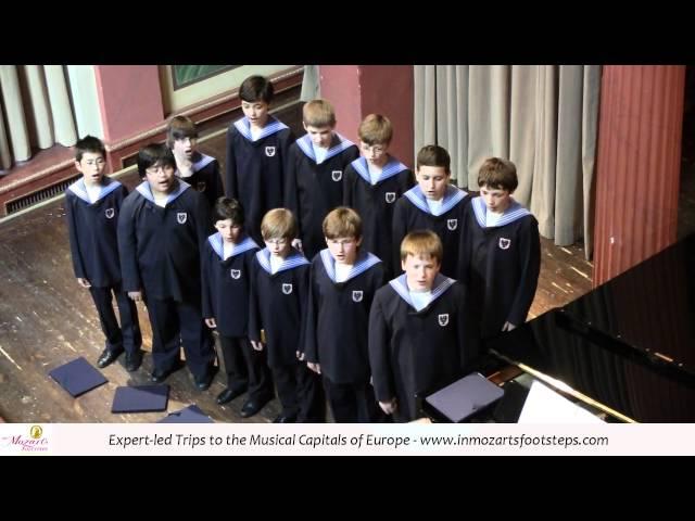 Vienna Boys Choir singing an Austrian Folk Song