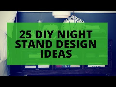 25 DIY Nightstand Ideas - Cool Design Bedside Table Furniture