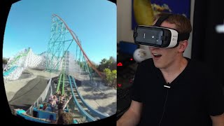 Gear VR + Galaxy S7: Riding Roller Coasters @ Six Flags