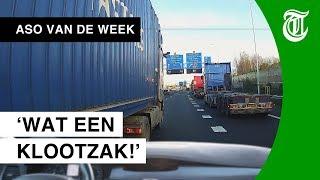 Krankzinnig: trucker neemt keihard wraak