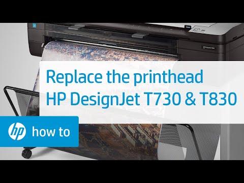 Hướng dẫn Cách thay mực máy in HP DesignJet T730 36-in Printer