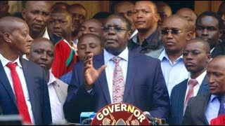 Dr. James Nyoro speaks after botched swearing-in