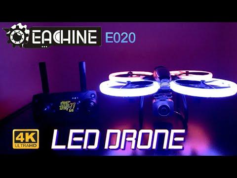 Eachine E020   LED Wi-Fi FPV 4k  Drone   Unboxing and Flight