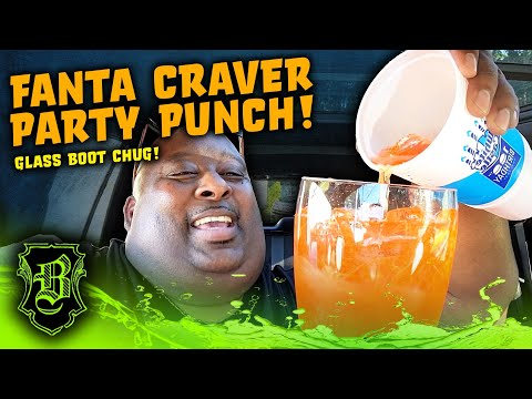 ICE FILLED BOOT of Fanta Craver Party Punch from White Castle!