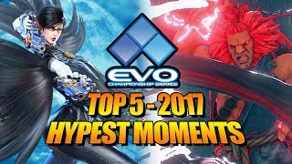 EVOLUTION 2017 - Top 5 Hype Moments (Fighting Game World Championship)