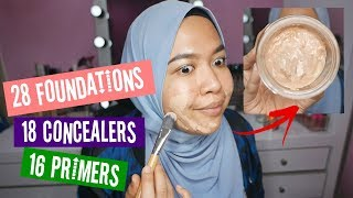 MIXING ALL MY MAKEUP | FOUNDATIONS, CONCEALERS, PRIMERS